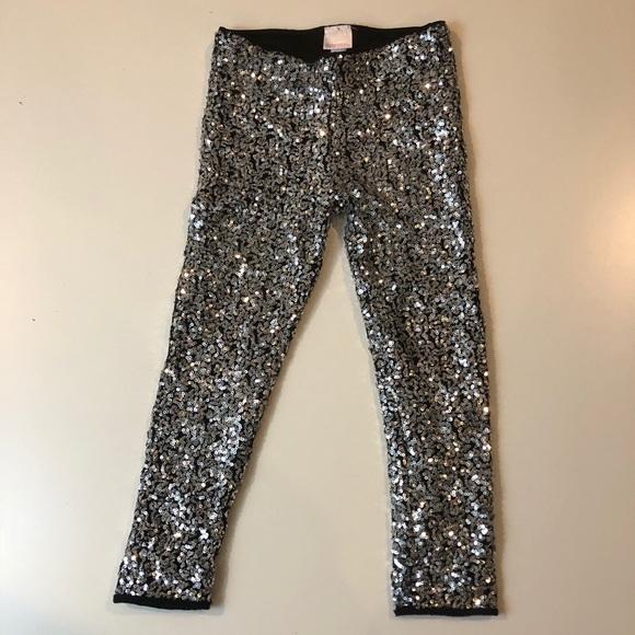 c44a3ff6569ef Xhilaration Bottoms | Super Sparkly Girls Sequin Leggings | Poshmark